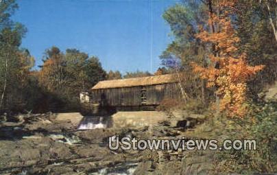 Covered Bridge - Thetford Center, Vermont VT Postcard