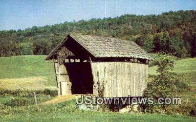 Covered Bridge - St Johnsbury, Vermont VT Postcard
