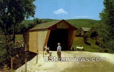Covered Bridge - Proctor, Vermont VT Postcard