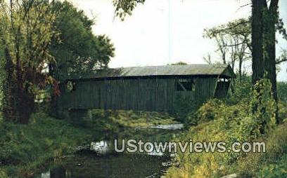 Old Covered Wood Bridge - North Ferrisburg, Vermont VT Postcard