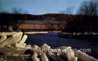 Spring Thaw - Ottauquechee River, Vermont VT Postcard