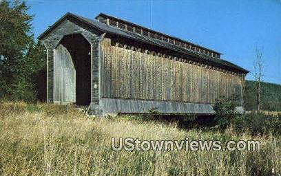 Railroad Covered Bridge - Wolcott, Vermont VT Postcard