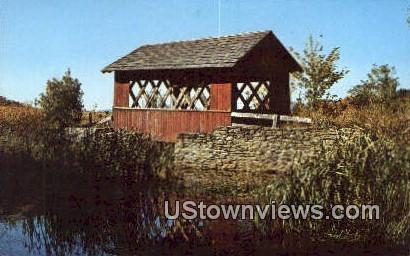 Old Covered Bridge - Willimington, Vermont VT Postcard