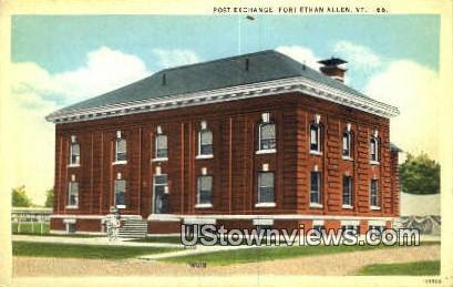 Post Exchange - Fort Ethan Allen, Vermont VT Postcard