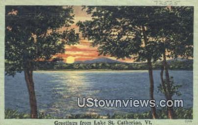 Lake St Catherine, VT     ;     Lake St Catherine, Vermont Postcard