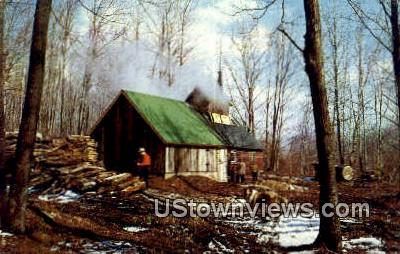 Maple Sugaring - Misc, Vermont VT Postcard