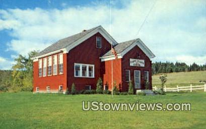 Cabot Plain Schoolhouse - Vermont VT Postcard
