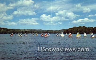 Sunfish Races, Joe's Pond - West Danville, Vermont VT Postcard