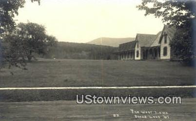 Real Photo - The West Lawn - Bread Loaf, Vermont VT Postcard