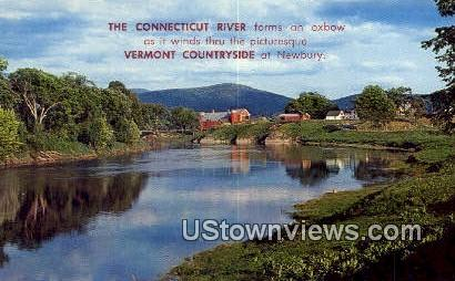 Connecticut River - Newbury, Vermont VT Postcard