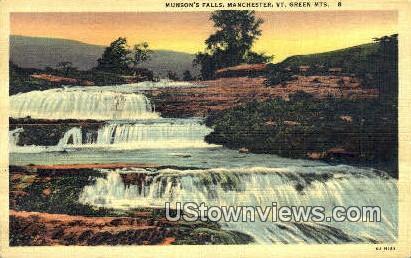 Munson's Falls - Manchester, Vermont VT Postcard