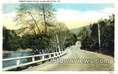 Greetings from Vermont - Manchester Postcard