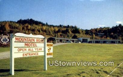 Mountain Road Motel - Mount Mansfield, Vermont VT Postcard