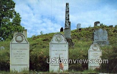 President Calvin Coolidge's Grave - Plymouth, Vermont VT Postcard