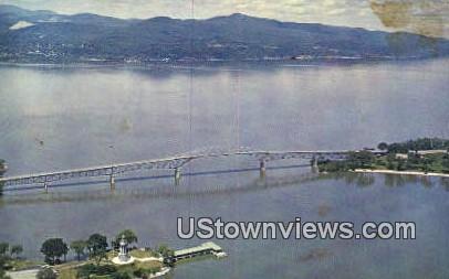 Lake Champlain Bridge - Chimney Point, Vermont VT Postcard