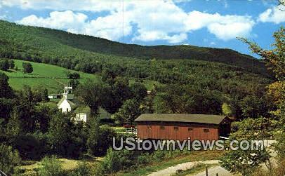 Old Covered Wood Bridge - West Arlington, Vermont VT Postcard
