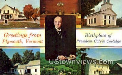 Birthplace of Pres Calvin Coolidge - Plymouth, Vermont VT Postcard
