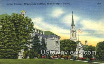 Upper Campus, Middlebury College - Vermont VT Postcard