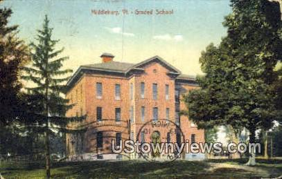 Graded School, Middlebury - Vermont VT Postcard