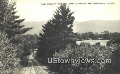 Lake Dunmore Road - Green Mountains, Vermont VT Postcard