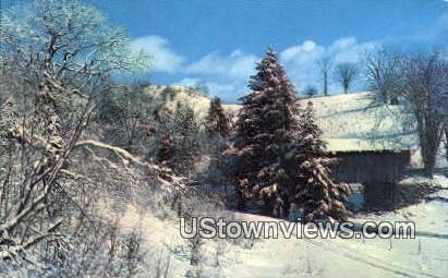 Old Covered Bridge - Jeffersonville, Vermont VT Postcard