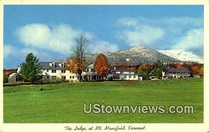 The Lodge - Mount Mansfield, Vermont VT Postcard