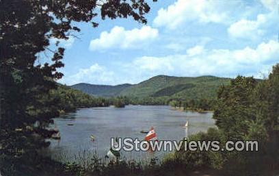 Echo Lake - Ludlow, Vermont VT Postcard