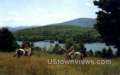 Horseback Riding, Johnston Farm - Ludlow, Vermont VT Postcard