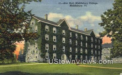 Star Hall, Middlebury College - Vermont VT Postcard