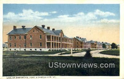 Line of Barracks - Fort Ethan Allen, Vermont VT Postcard