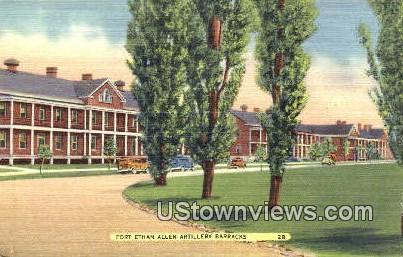 Artillery Barracks - Fort Ethan Allen, Vermont VT Postcard