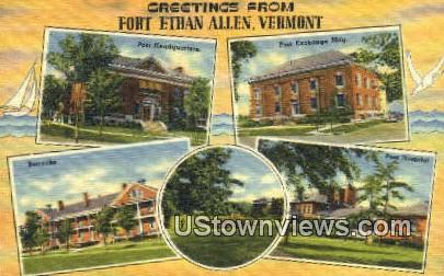Greetings from Vermont - Fort Ethan Allen Postcard