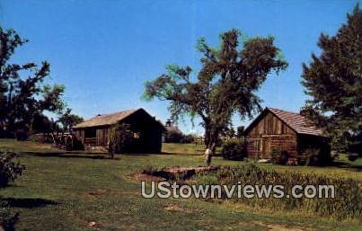 Sawyer's Cabin & Up & Down Sawmill - Charlotte, Vermont VT Postcard