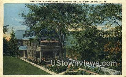 Naulhaka, Former home of Rudyard Kipling - Brattleboro, Vermont VT Postcard