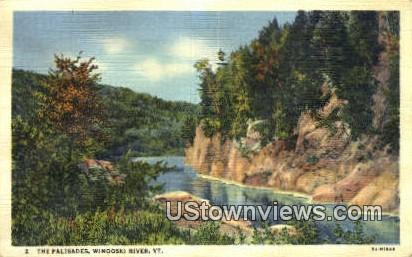The Palisades - Winooski River, Vermont VT Postcard