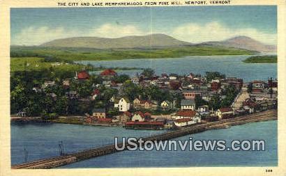 City & Lake Memphremagog - Newport, Vermont VT Postcard