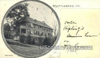 Naulahka - Brattleboro, Vermont VT Postcard