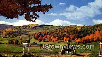Vermont Farm Country - Middlebury Postcard