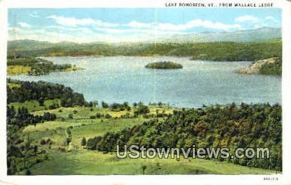 Wallace Ledge - Lake Bomoseen, Vermont VT Postcard