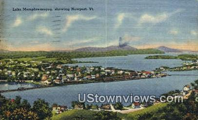 Lake Memphremagog - Newport, Vermont VT Postcard