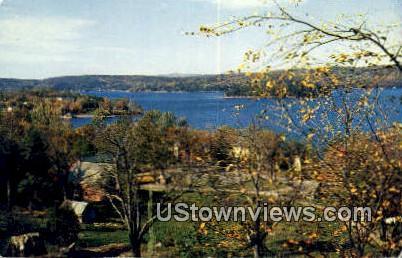 Prospect Point & Neshoba Island - Lake Bomoseen, Vermont VT Postcard