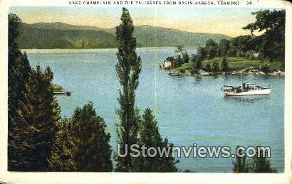 Lake Champlain, Palisades - Basin Harbor, Vermont VT Postcard