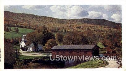 Bridge at the Green - West Arlington, Vermont VT Postcard
