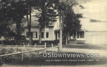 Home of President Calvin Coolidge - Plymouth, Vermont VT Postcard
