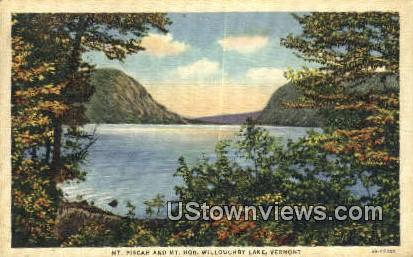 Mt Piscah & Mt Hor - Willoughby Lake, Vermont VT Postcard