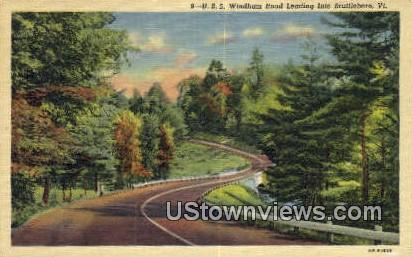 Windham Road - Brattleboro, Vermont VT Postcard