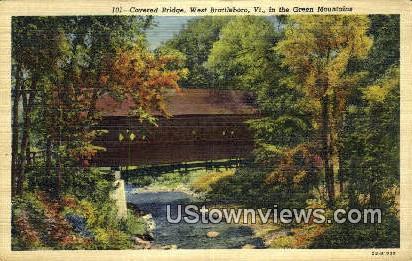 Covered Bridge - West Brattleboro, Vermont VT Postcard
