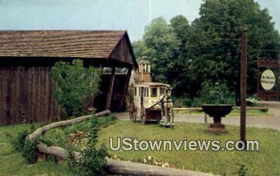 Milk Wagon, Shelburne Museum - Vermont VT Postcard