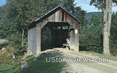 Covered Wooden Bridge - Waitsfield, Vermont VT Postcard