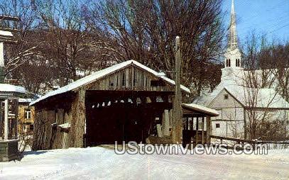 Old Covered Bridge - Waitsfield, Vermont VT Postcard